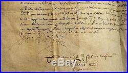 Commissaires deputés parisien 1609 Manuscrit manuscript parchemin