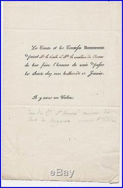 Comtesse de Ségur. Invitation de la Comtesse ROSTOPSINE