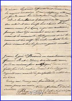 Conquête De L'algérie (1837) / Abdelkader / Bugeaud / Manuscrit Et Lettre
