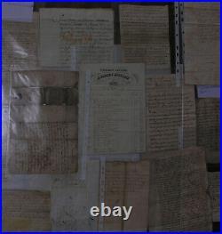 Coulaures. Dordogne Documents Lestrade de Lacousse du château de la Cousse. XVII S