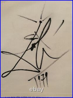 DALI Salvador autographe signature