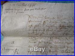 DOC MS 1446 (33 X 32 cm) ACQUET LABOUR D'UN ESCUYER, ST AUBIN DE GUERANDE