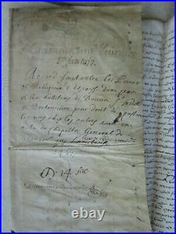 DOC MS 1457 DROIT PATURAGE BRETENIERE (Côte d'Or). Prieurs