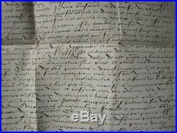 DOC MS 1535 QUIEVY Accord transaction prisonnier château de SELLES (Cambrai)