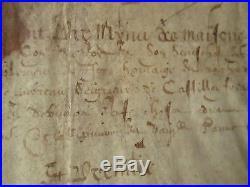 DOC MS 1607 DECLARATION DE FIEFS CONSEILLER DE FRANCOIS Ier