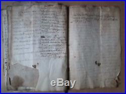 DOC MS XVII° PHARMACOPEE D'UN MAITRE CHIRURGIEN DE L'HERAULT, 17 feuillets