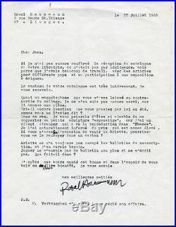 Dada Surréalisme Raoul Hausmann lettre signée