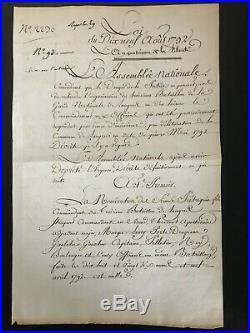 Danton / Document Signé (1792) / Gardes Nationales / Revolution / Langres