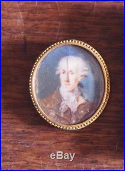 Dauphiné miniature de VERNA portrait du président de la cour des comptes 1760