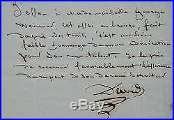 David d'Angers offre son portrait en bronze à Mademoiselle George