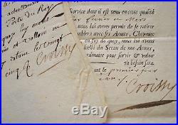 Deux certificats de Garde de la Porte du Roi Louis XV