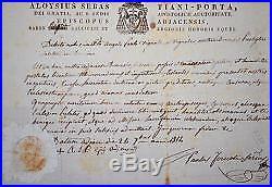 Deux certificats pour l'aumônier de Napoléon à Saint-Hélène, l'abbé Vignali