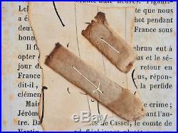 Deux mégots de cigarette fumées par Napoléon III après la capitulation de Sedan