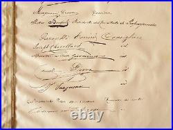 Diplôme Armand Fallières Mezin Garibaldi Armoirie Savoie Binding Reliure Vezzosi