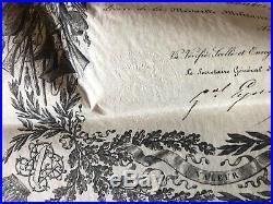Diplôme Médaille militaire Napoléon III 1860 escadron du train Varatges