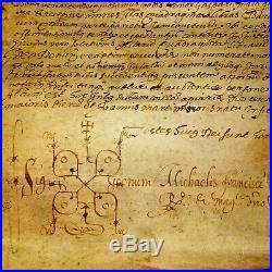 Document De Vente. Miguel Valencia. Grand Parchemin. Barcelone. Espagne. 1593