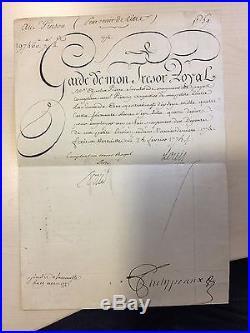 Document Signé De Louis XVI (1775) / Trésor Royal / Versailles
