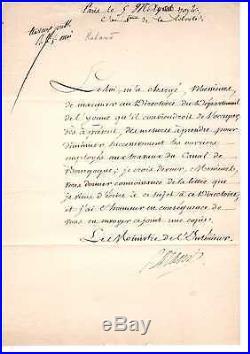 Document Signé De Roland (1792) / Révolution Française / Louis XVI