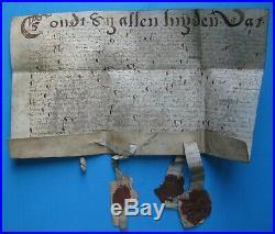 Document XVIIème avec sceaux (origine Hollande, Flandres, Luxembourg)