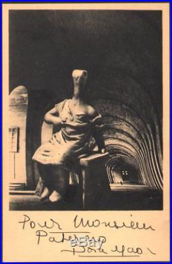 Dora Maar. Série surréaliste 1937. 29 rue d'Astorg. Dédicace à jean Paterno