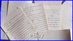 Dossier du baron FAIN lot avec une lettre autographe un memoire manuscrit etc