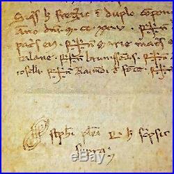Dot De Dulcia Despluga En Faveur De Dominico Castellario. Parchemin. Espagne 1225