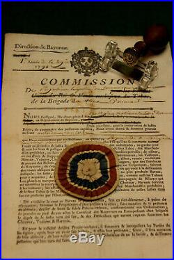 Douanes / Sceau Et Commission D Emploi De La Ferme Royale 1791