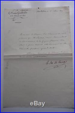 Duc De Duras Lettre A Laussat A Propos De La Guyane 1819