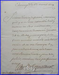 Duc de ROQUELAURE Antoine-Gaston-Jean-Baptiste Lettre à Mr de Villevielle 1729
