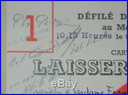E266-Maréchal PETAIN Laisser Passer signé de sa main avec qq lignes autographes