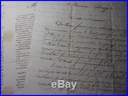 EMPIRE / LETTRES ANTOINE BRASSAT 1768-Officier de Cavalerie, Légion d'Honneur