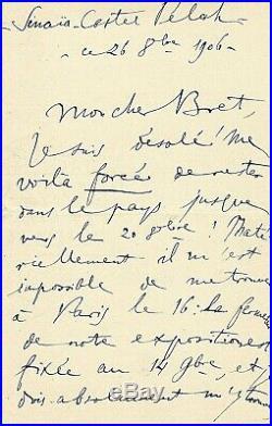 ENESCO (Enescu Georges). L. A. S à l'organiste Gustave Bret