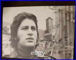 EXCEPTIONNEL RARISSIME Mike Brant BEL AUTOGRAPHE carte postale dédicace signed