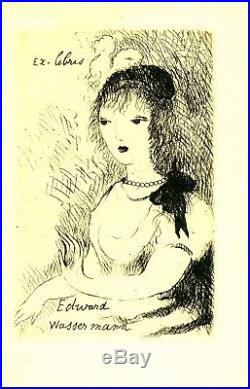 EX-LIBRIS de Marie LAURENCIN pour Edward WASSERMANN. 1932