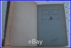 Échecs chess schach vintage autograph book + handwritten card HENRI RINCK signed