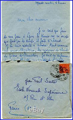 École normale supérieure lettre damour à J P Sartre
