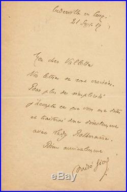 Écrivain André Gide lettre autographe signée Vallette Lady Rothermere édition
