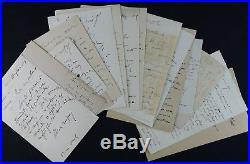 Ecrivain Félicien CHAMPSAUR autographes / Correspondance de 16 lettres