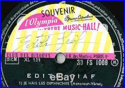 Edith Piaf Signe Son Disque (la Vie En Rose) A L'olympia