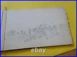 Edouard DETAILLE. CARNET 18 x DESSIN original signé. NAPOLEON Empire Autograph