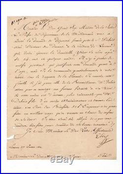 Elisa Bonaparte / Lettre Signée (1812) / Livourne / Au Sujet D'un Mariage