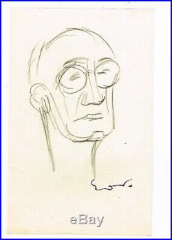 Emile Othon Friesz Dessins Originaux 11 & 12 Portrait Du Peintre Marcel Mouillot