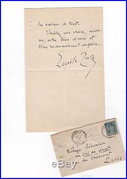 Émile Zola / Lettre Autographe Signée (1885) / Germinal / Censure