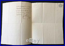 Emmanuel-Joseph Sieyès 1748-1836 lettre Autographe 1809 Empire Français Napoléon