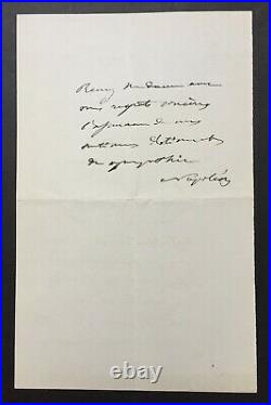 Empereur Napoléon III Lettre autographe signée 1870