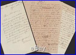 Ernest RENAN et sa Famille, TRES BEL ensemble d'autographes