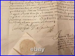 Exceptionnel Document Signe Par Mazarin Abbaye De Saint Victor Marseille 1656
