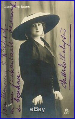 Exceptionnel Sacha GUITRY et toutes ses épouses Photos dédicacées