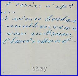 Exceptionnelle lettre de Monet à Clemenceau, annulant la donation des Nymphéas