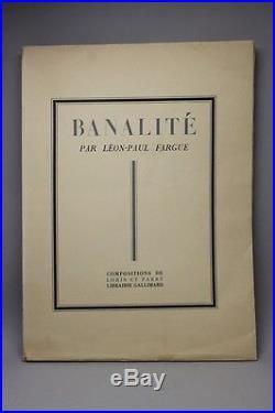 Fargue Banalité 1930 1ère Ed. Illustrée 1/322 Sur Hollande